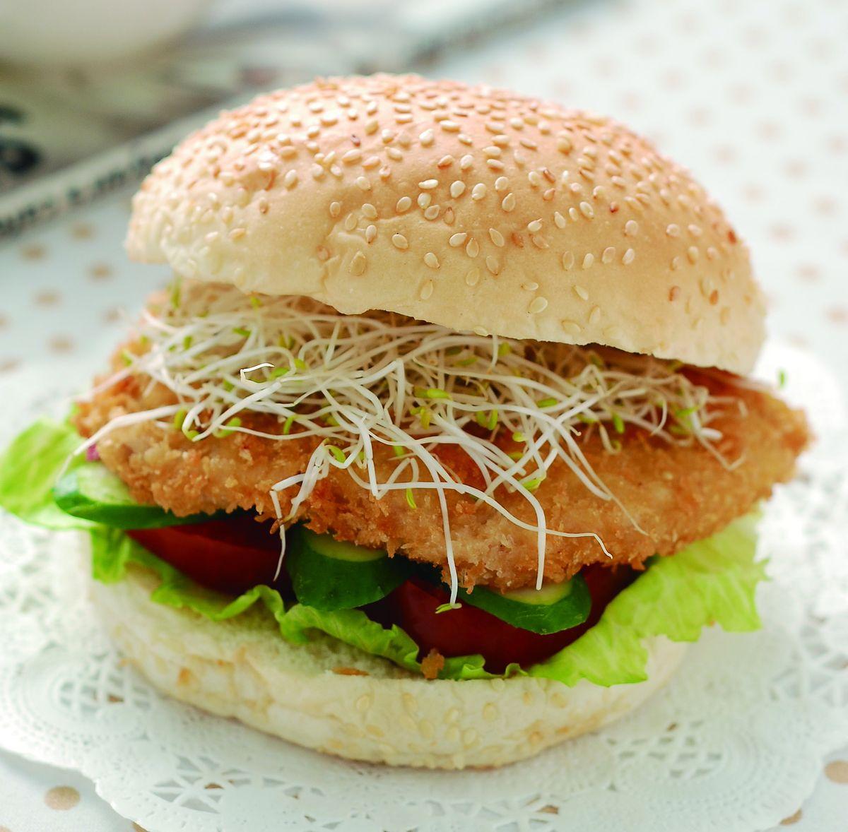 食譜:豬排漢堡
