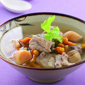 干貝金針排骨湯