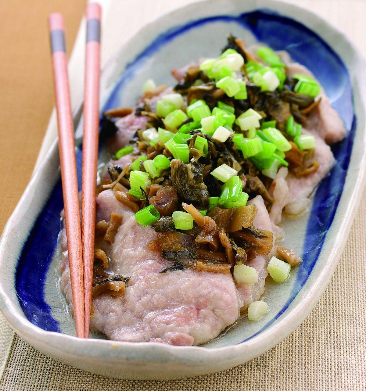 食譜:梅肉福菜燒