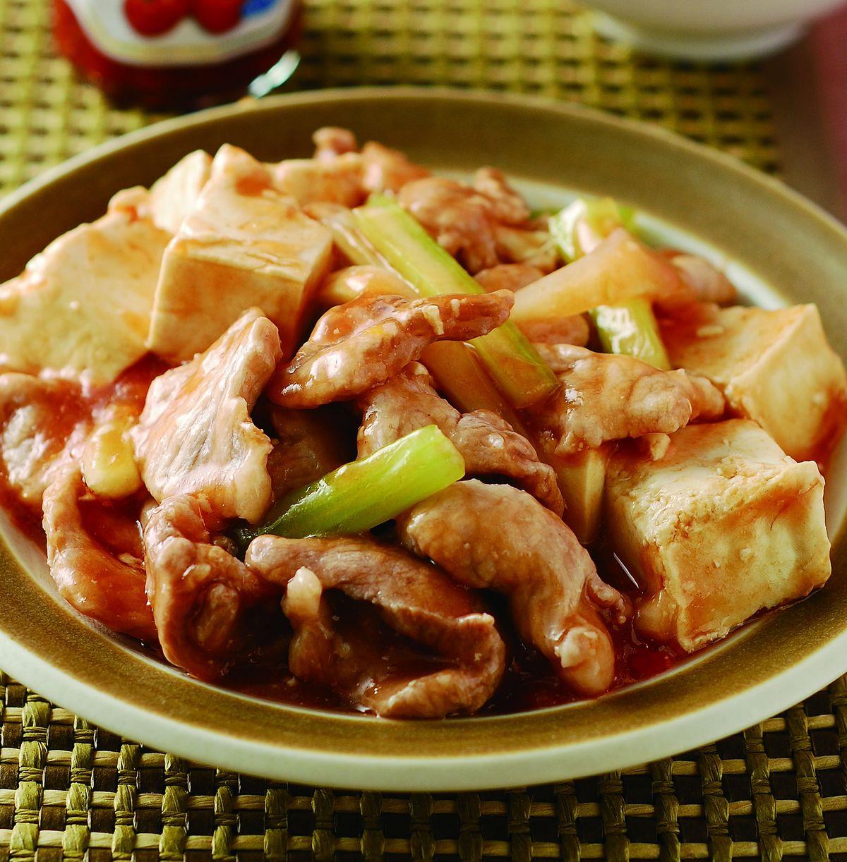 食譜:養生茄汁豆腐肉片