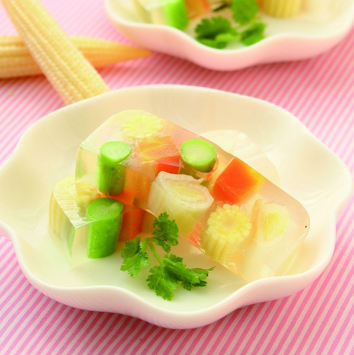 食譜:彩色蔬菜凍