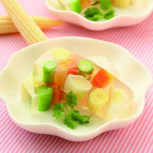 彩色蔬菜凍