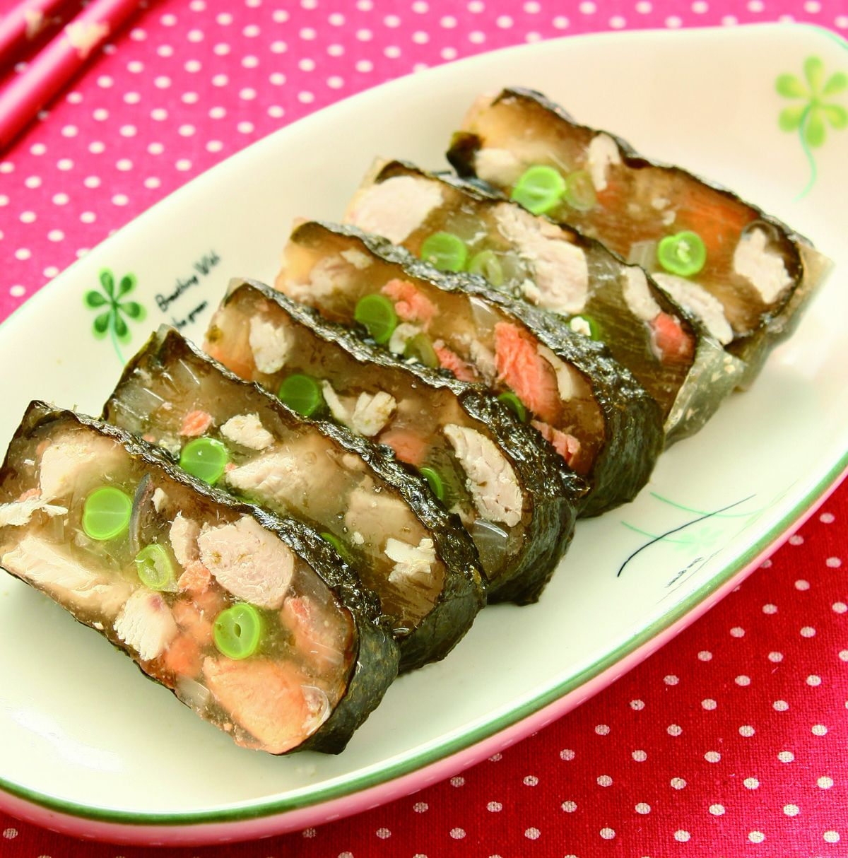 食譜:雙魚海苔凍