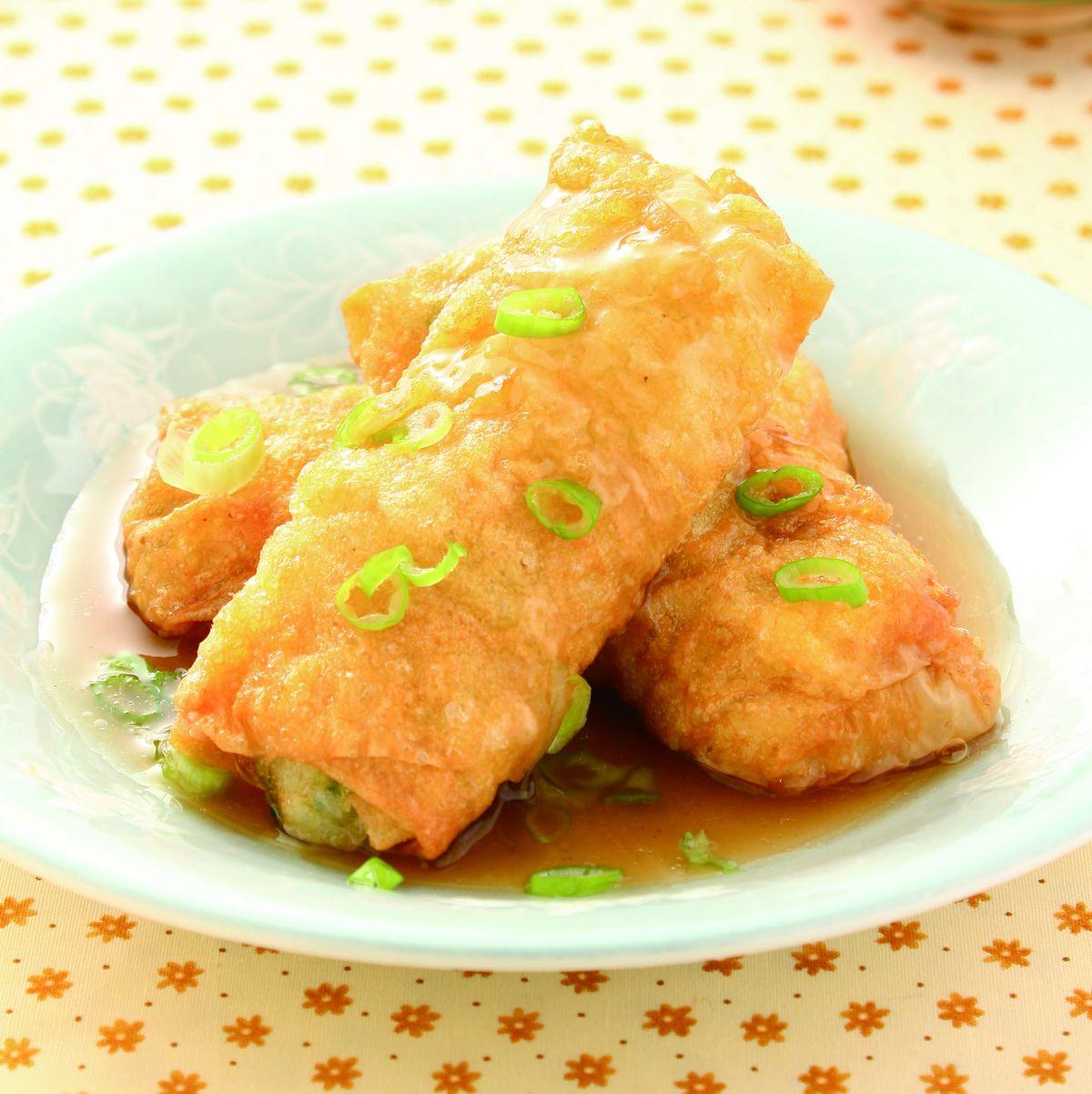 食譜:豆皮飯菜捲
