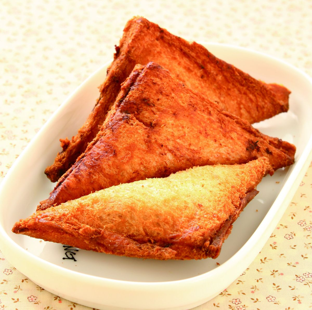 食譜:吐司蝦餅