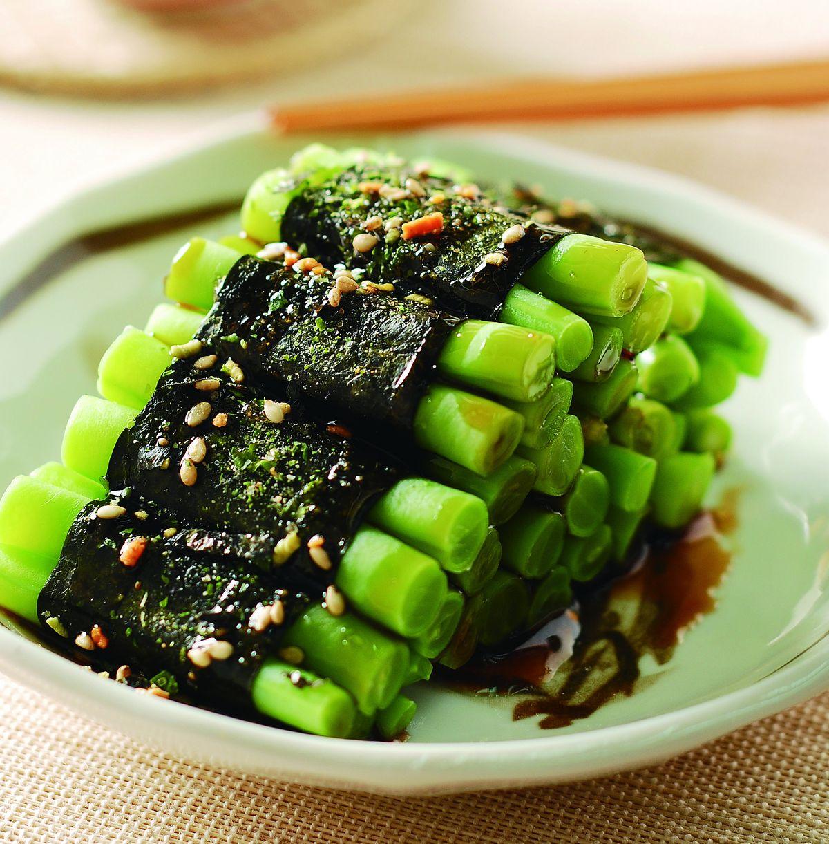 食譜:四季豆海苔卷