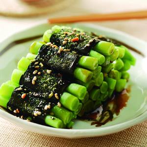 四季豆海苔卷