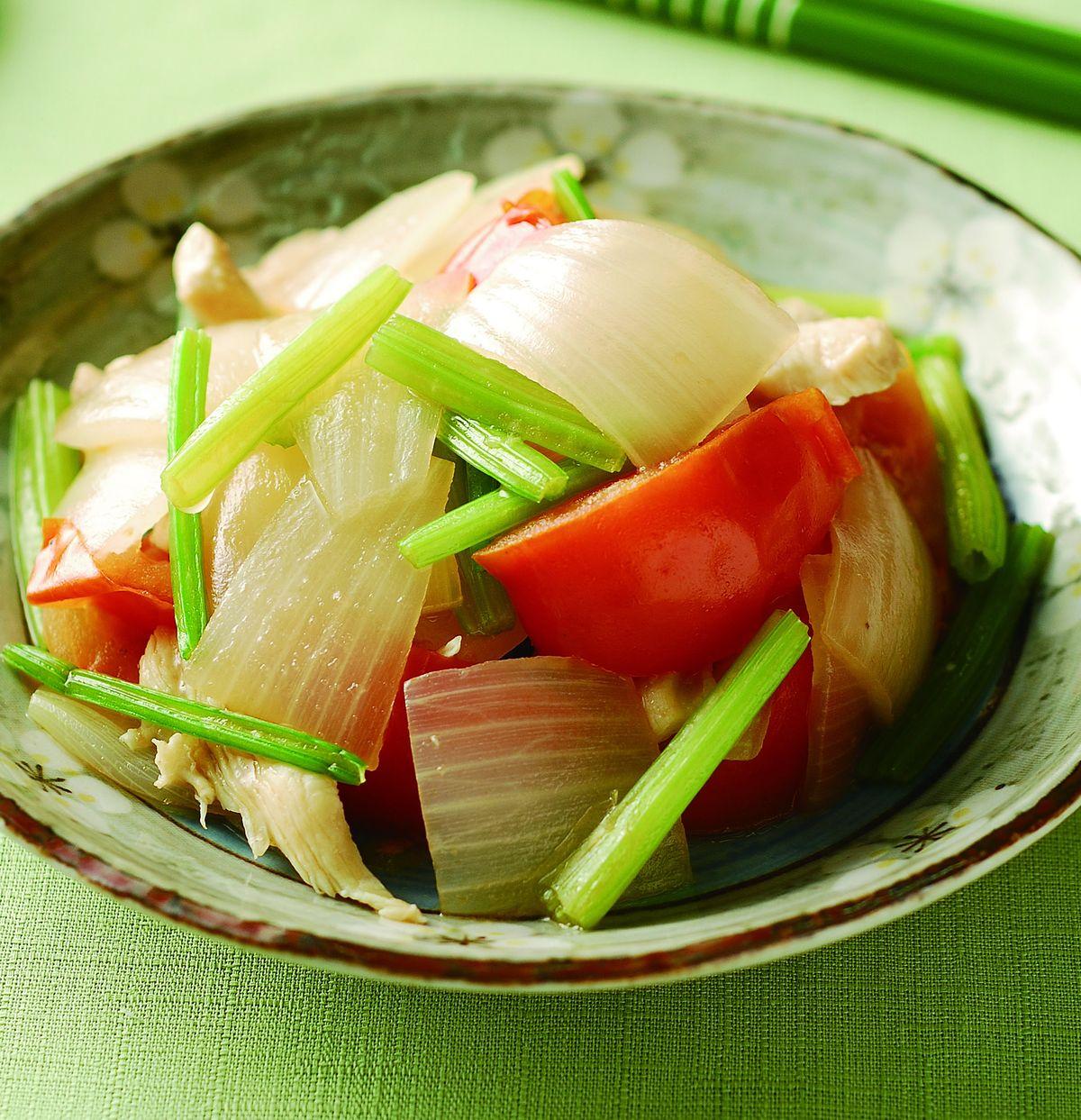 食譜:洋蔥蕃茄炒雞肉