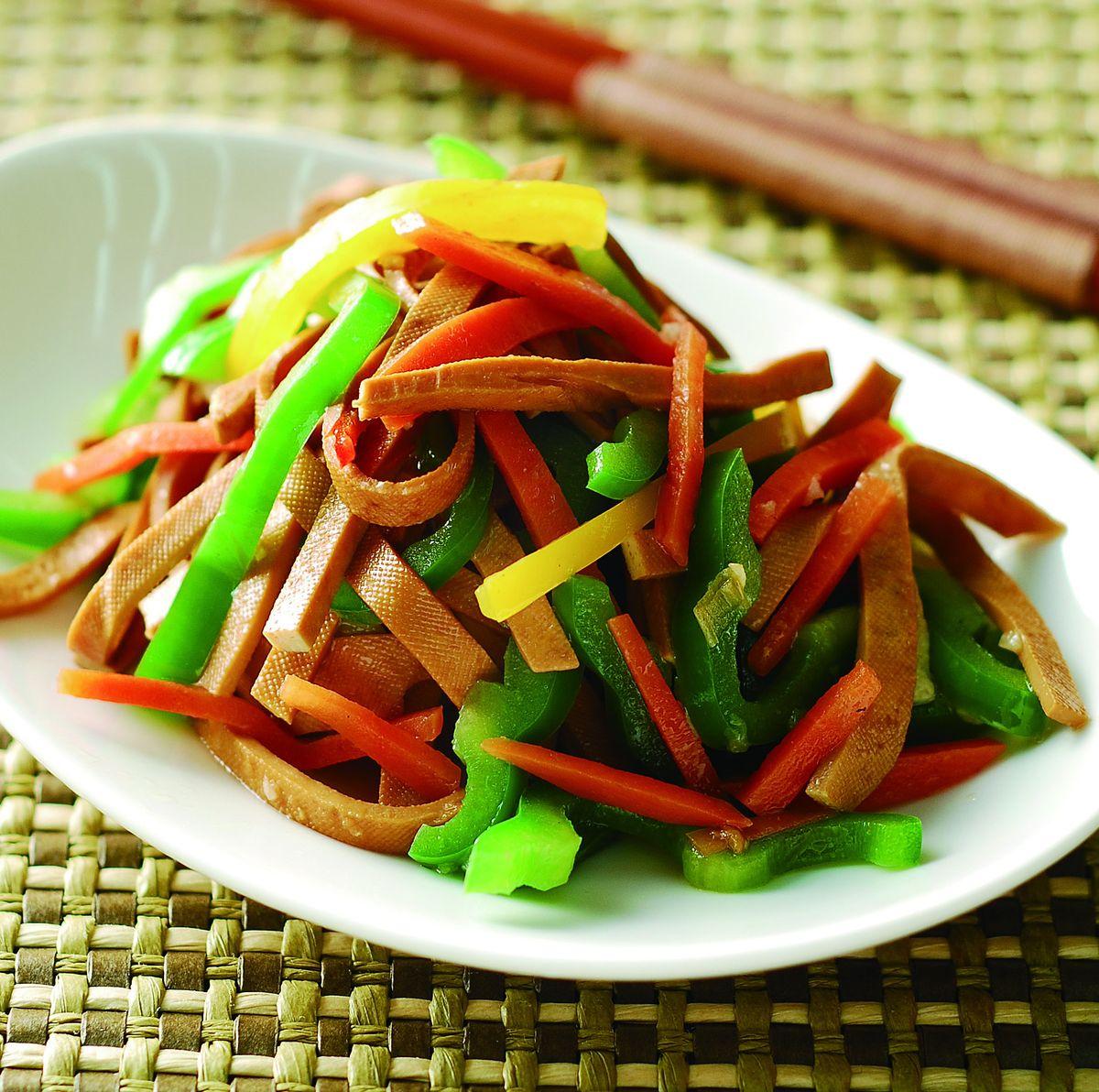 食譜:青椒炒干絲