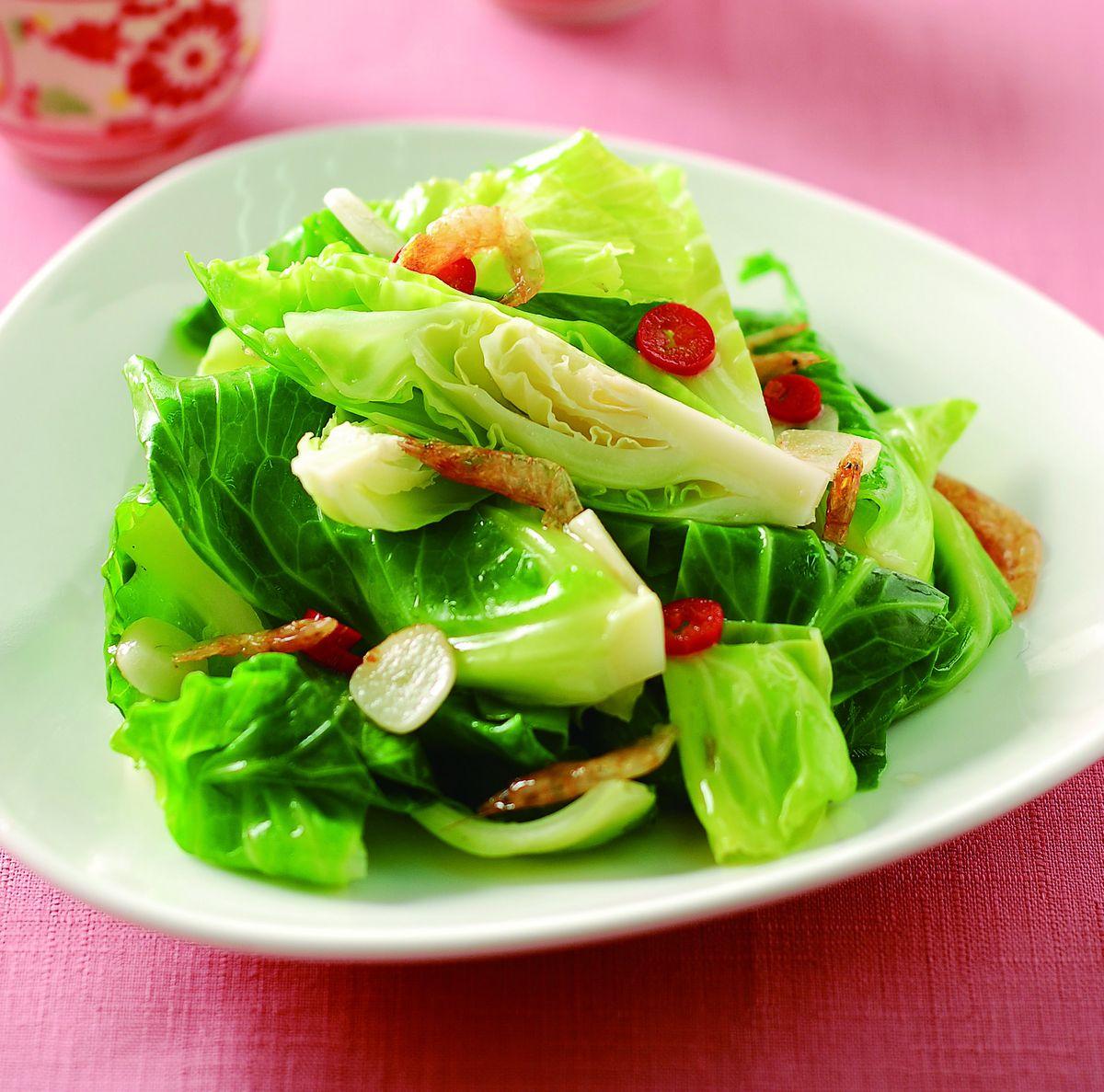 食譜:櫻花蝦高麗菜苗