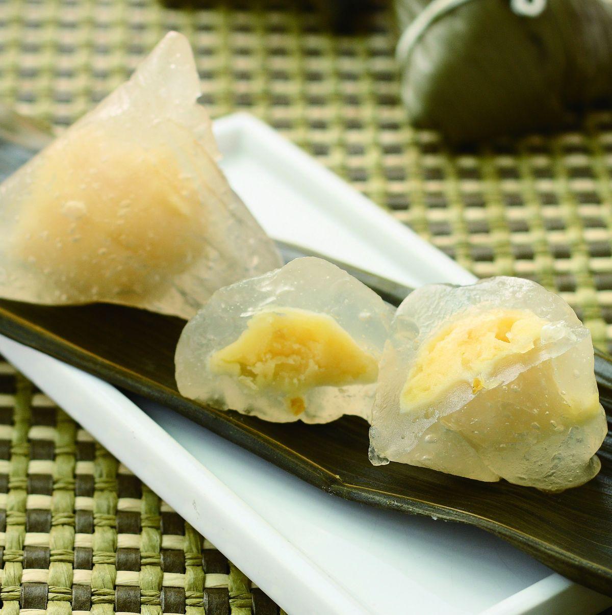 食譜:柚香水晶粽