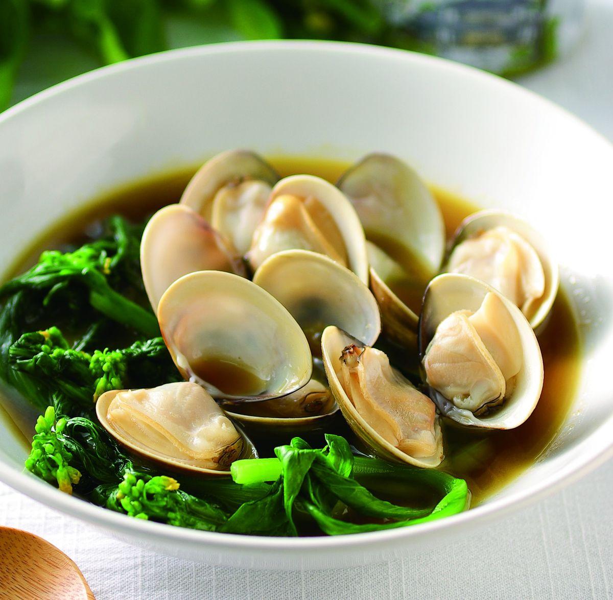 食譜:蛤蜊煮油麻菜