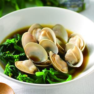 蛤蜊煮油麻菜