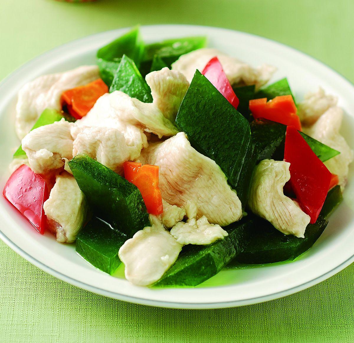食譜:翡翠炒雞肉