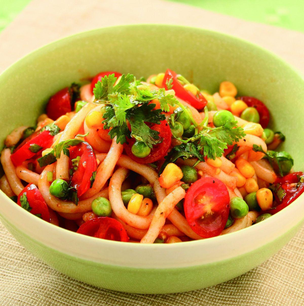 食譜:辣味蕃茄涼拌米苔目
