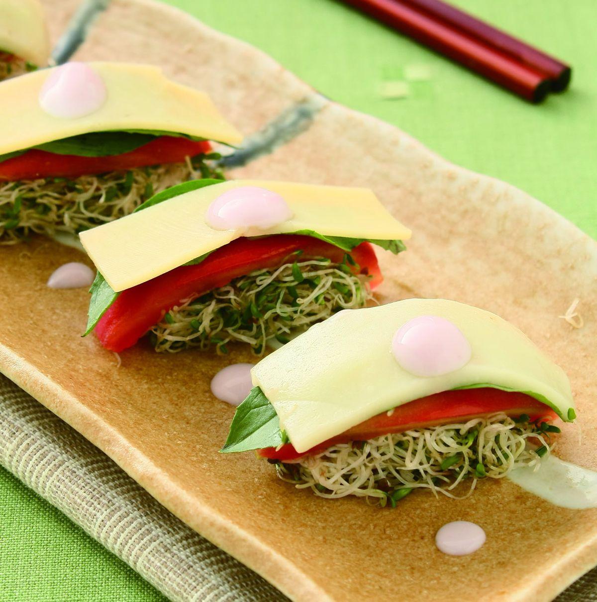 食譜:乳酪蕃茄握壽司