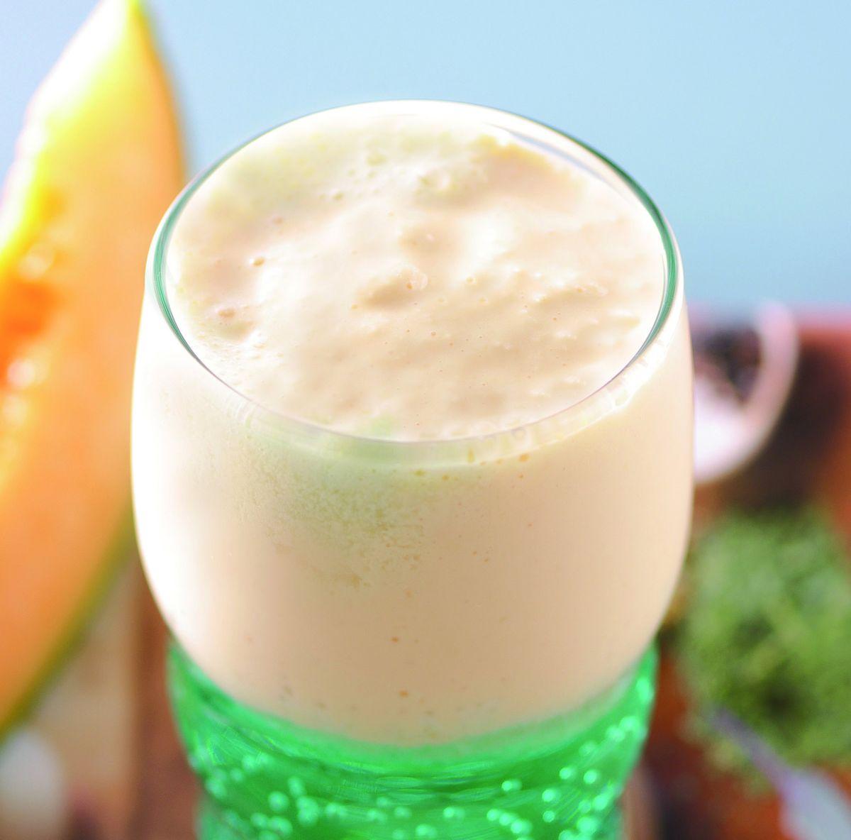 食譜:哈密瓜氣泡奶昔