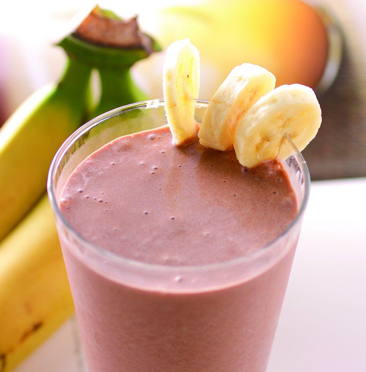 食譜:巧克力香蕉奶昔