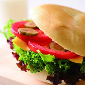 青蔬貝果三明治