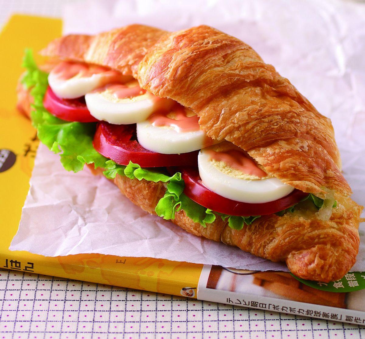 食譜:蛋沙拉可頌