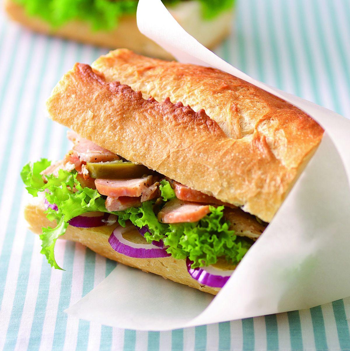 食譜:燻雞潛艇堡