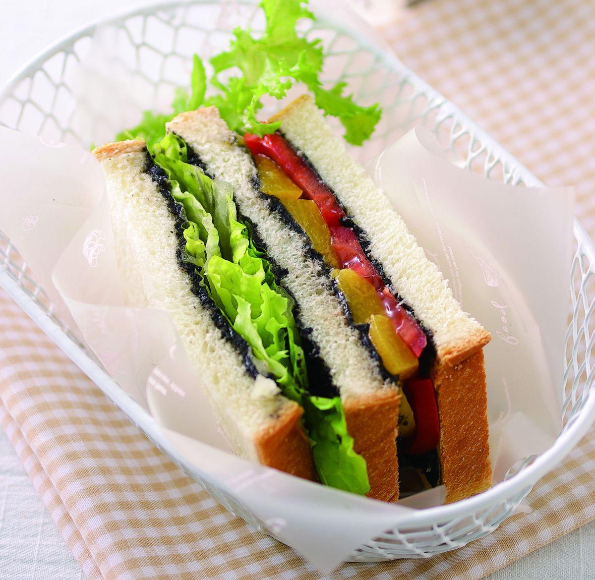 食譜:芝香蔬果三明治