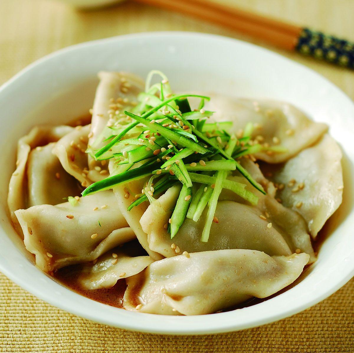 食譜:涼拌麻醬餃