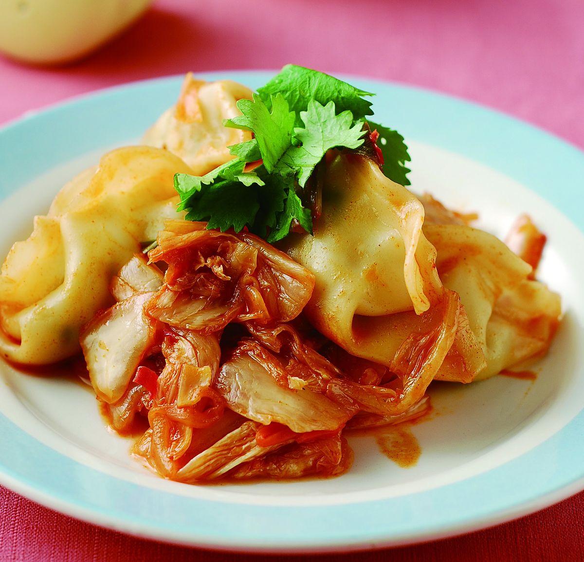 食譜:韓式泡菜炒餃子