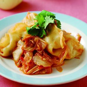 韓式泡菜炒餃子