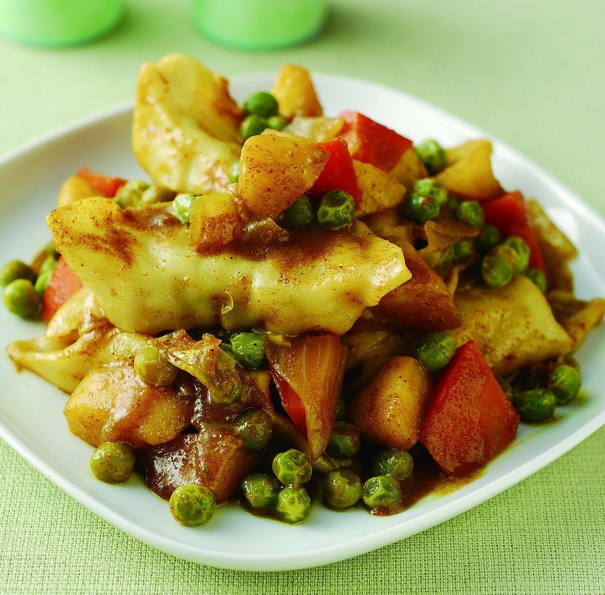 食譜:蘋果咖哩燴餃