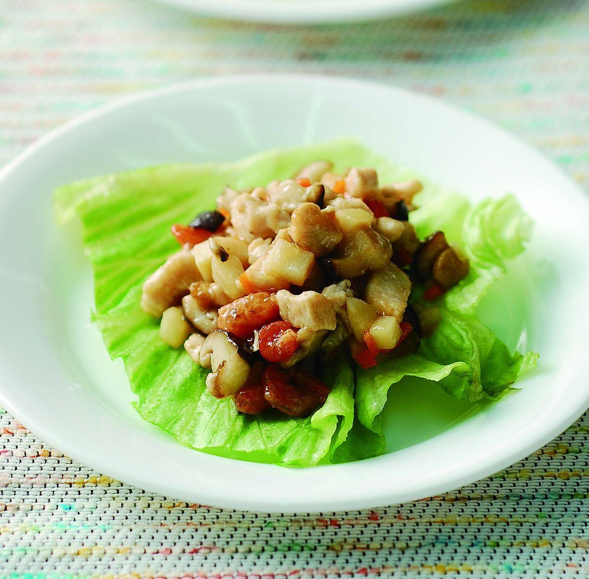 食譜:生菜蝦鬆(3)