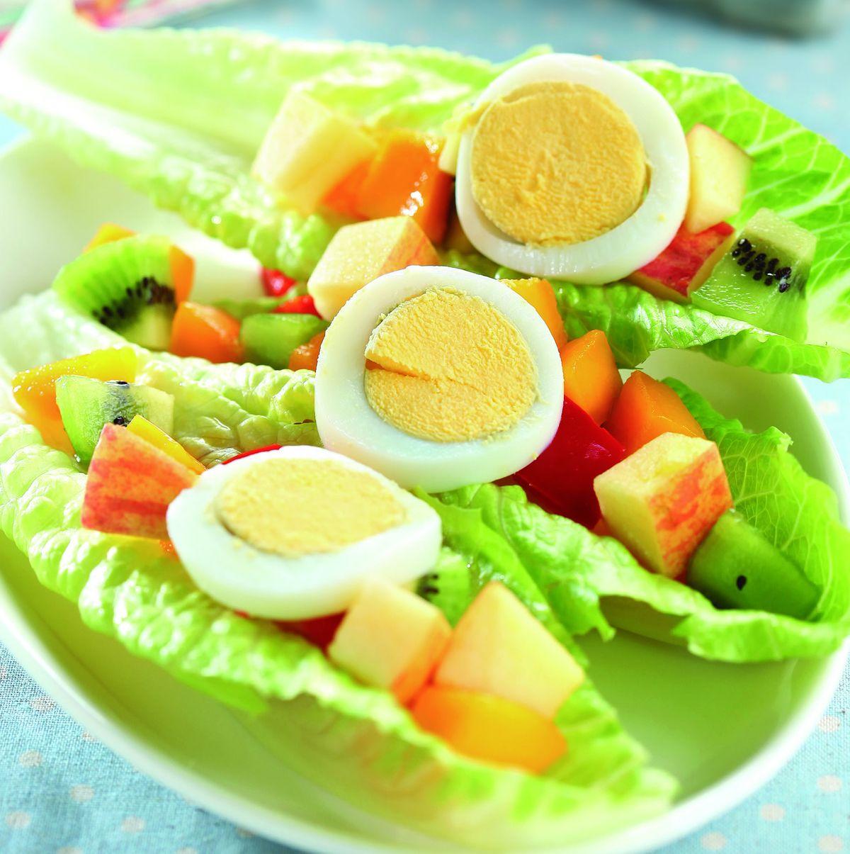食譜:蘿蔓沙拉船
