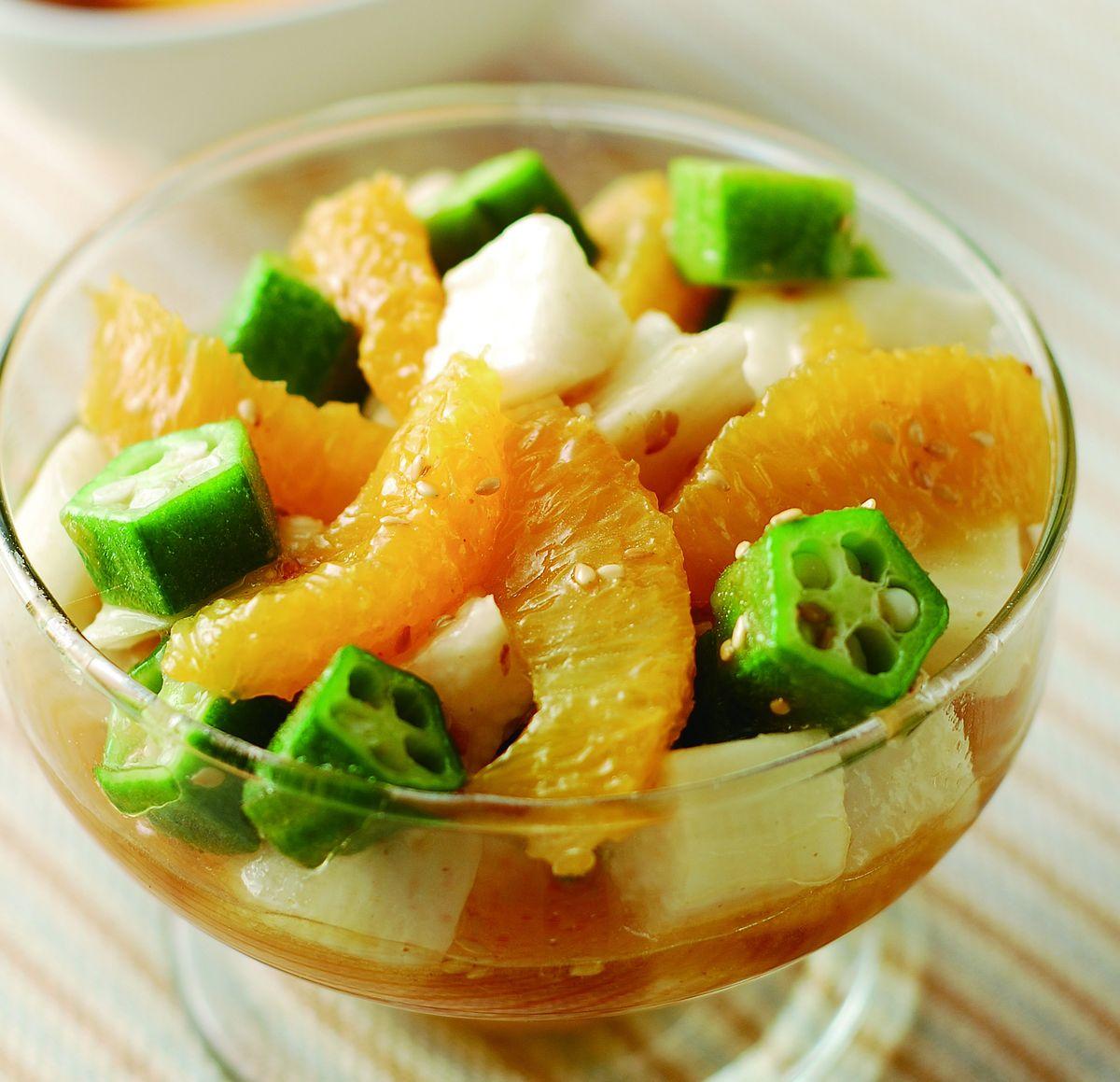 食譜:柳橙山藥日式沙拉
