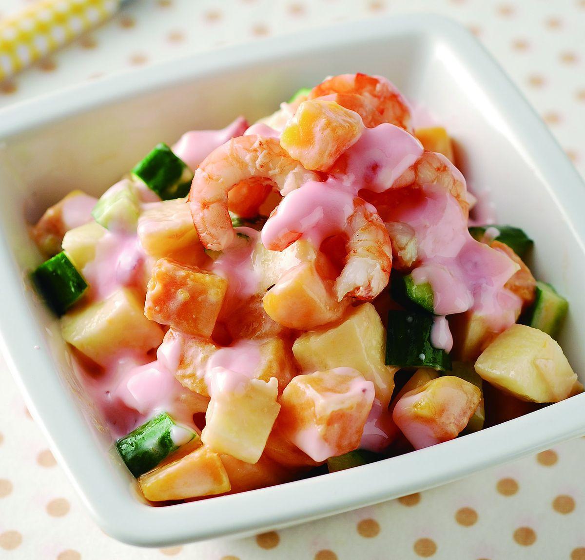 食譜:蘋果鮮蝦地瓜沙拉
