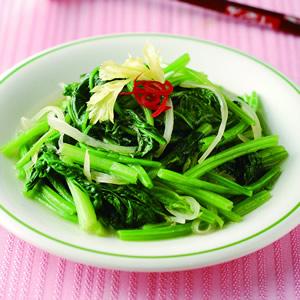 蒜米炒菠菜