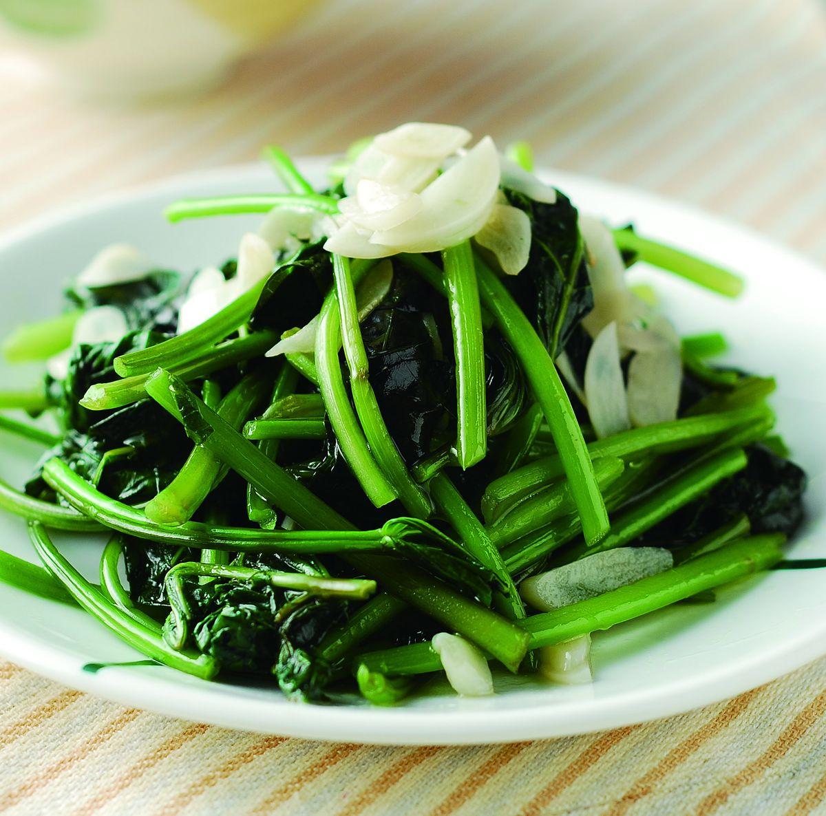 食譜:蒜香地瓜葉