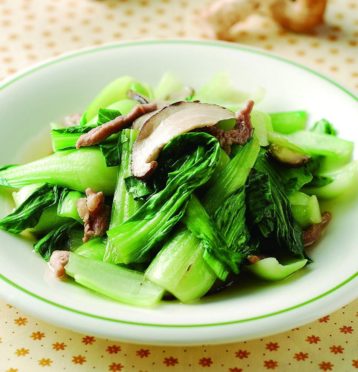 食譜:香菇炒青江菜