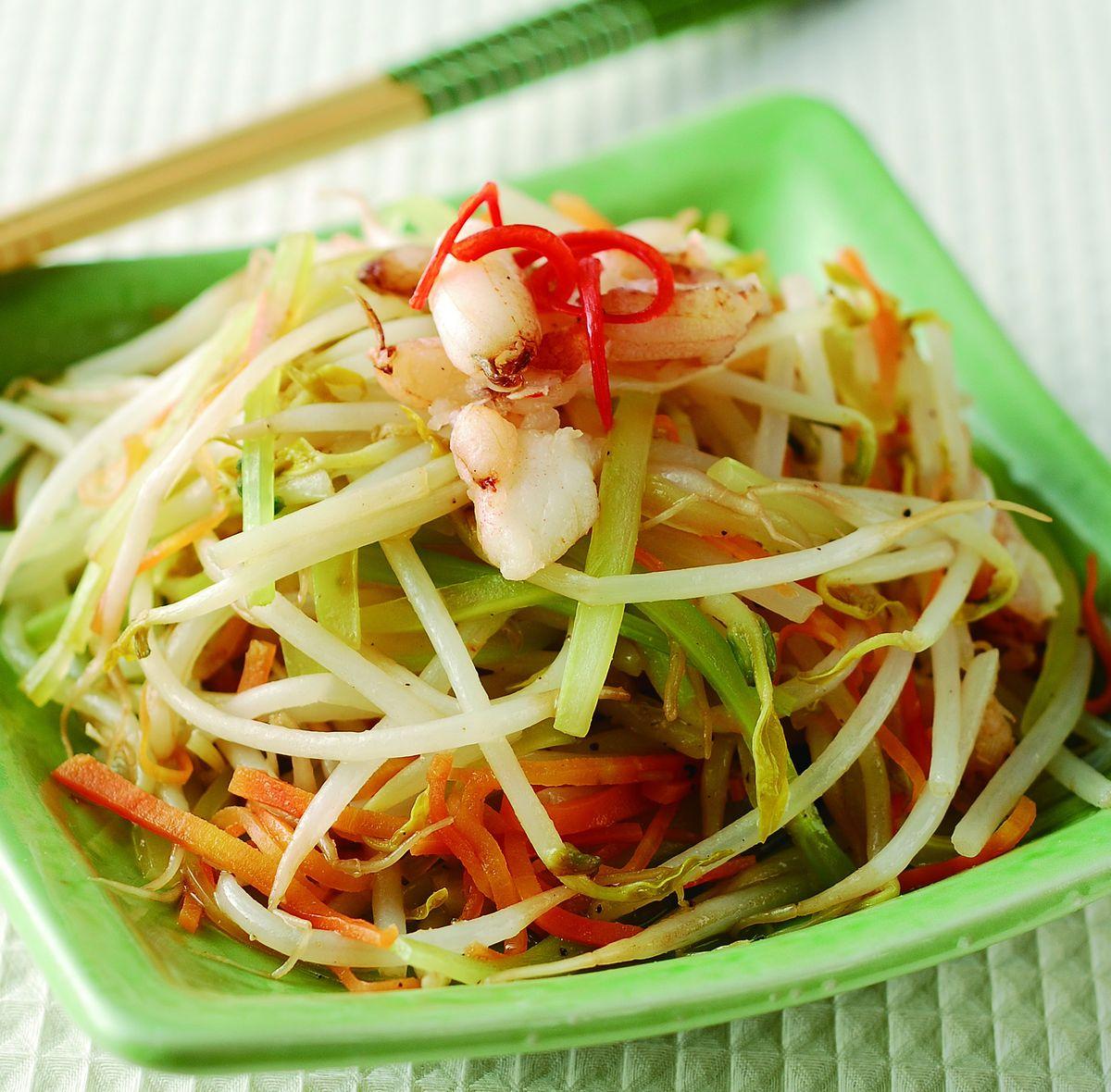 食譜:低脂蟹肉豆芽