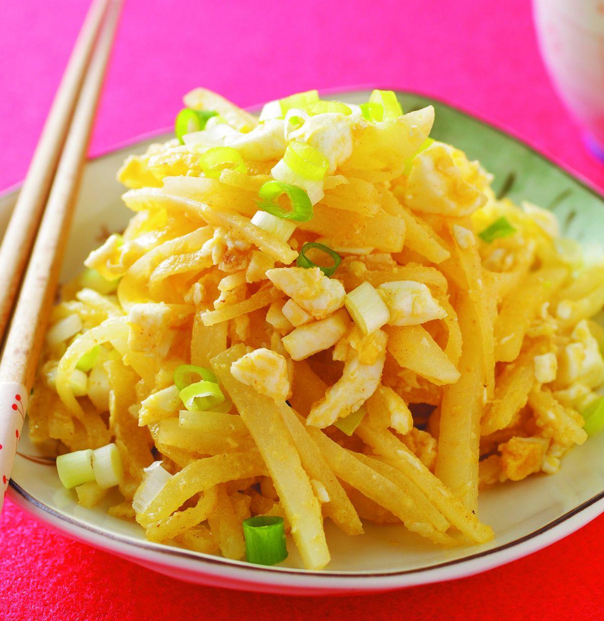 食譜:蘿蔔絲炒鹹蛋