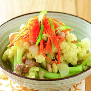 絞肉芡煮花椰菜