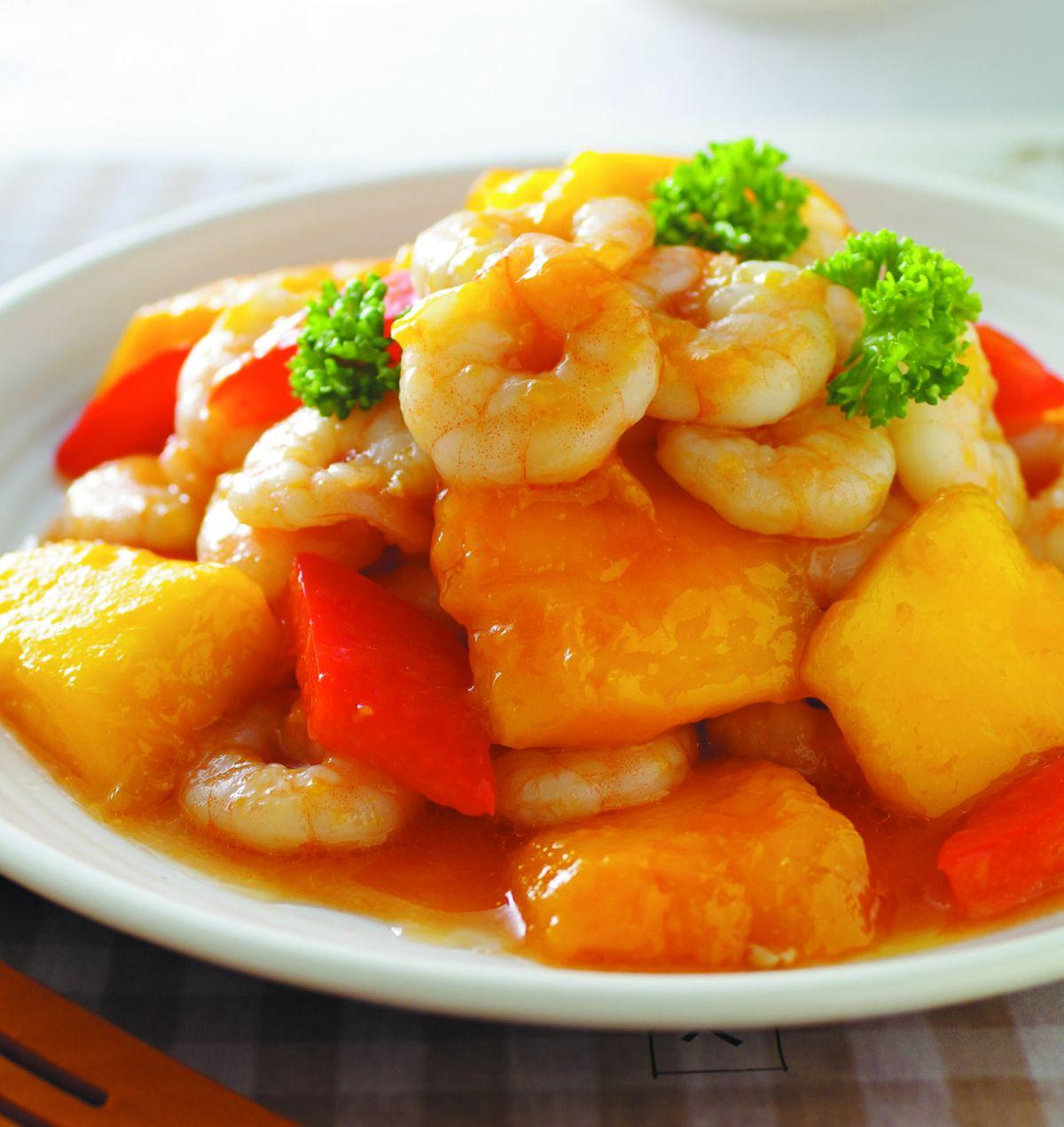 食譜:芒果炒蝦仁