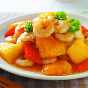 芒果炒蝦仁