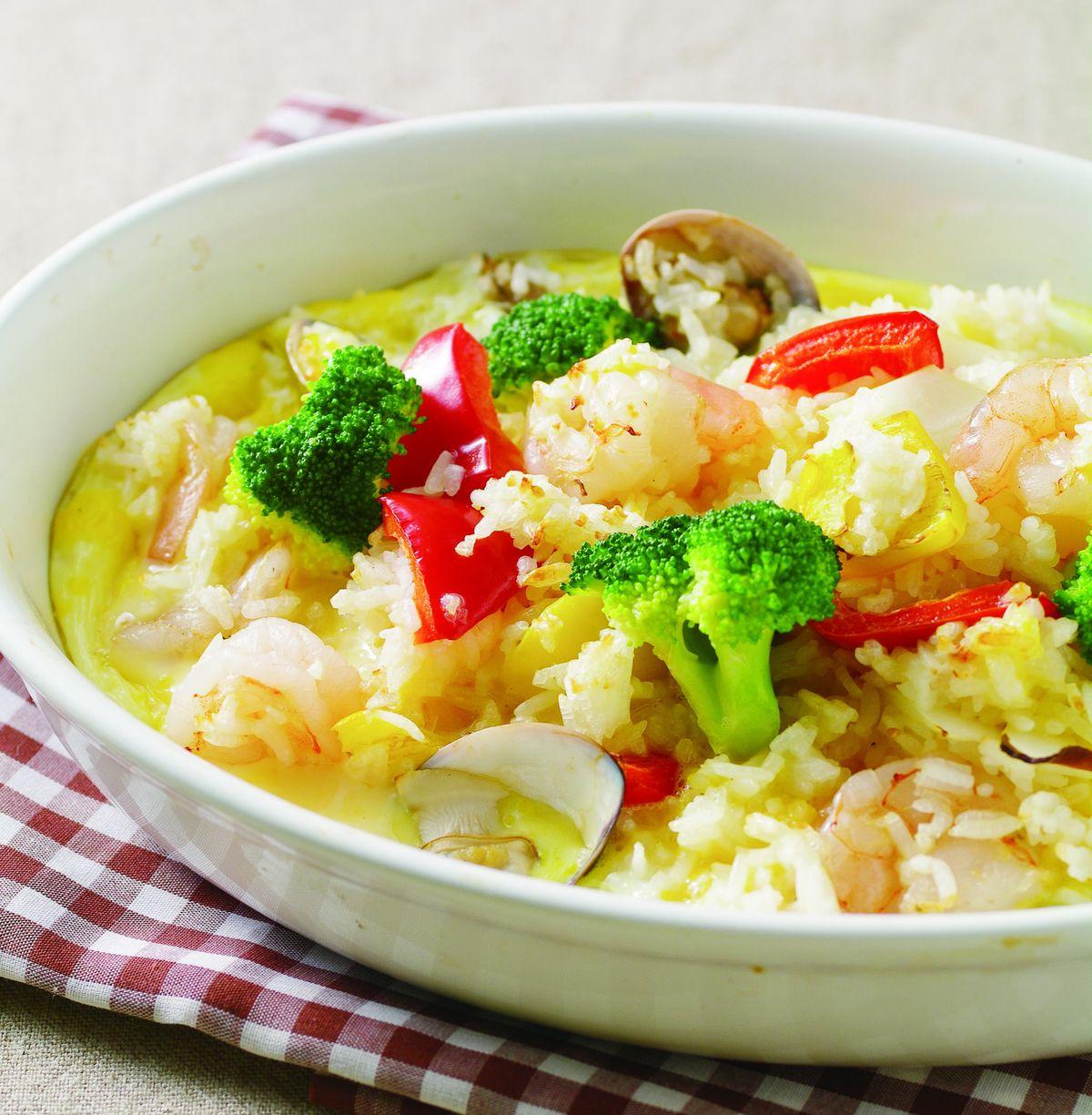 食譜:甜椒海鮮焗飯