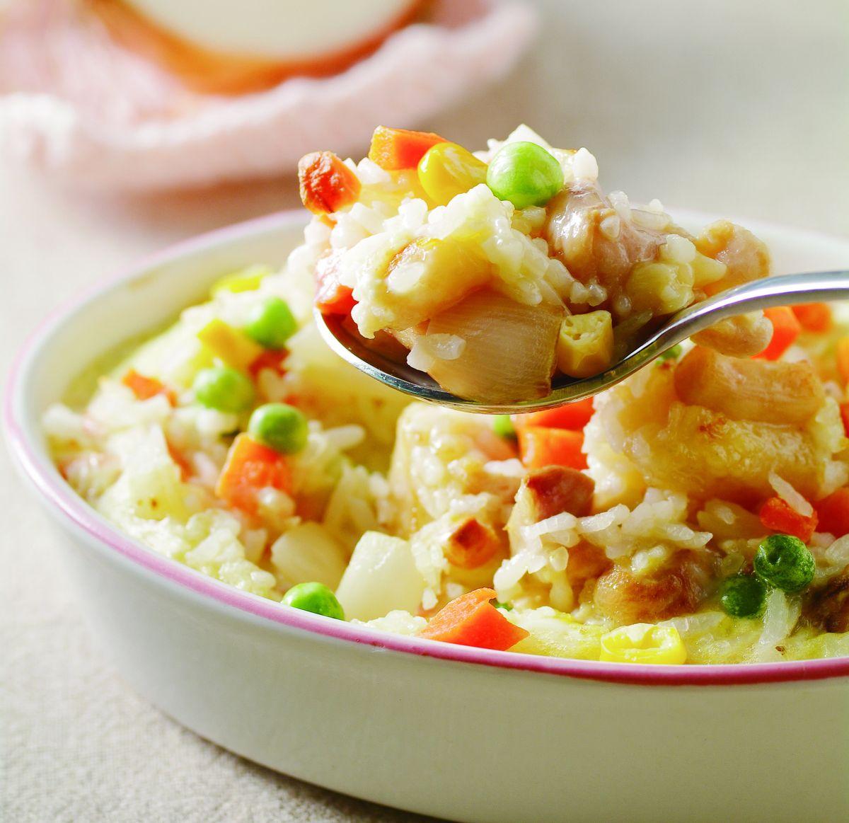 食譜:親子雞肉焗飯