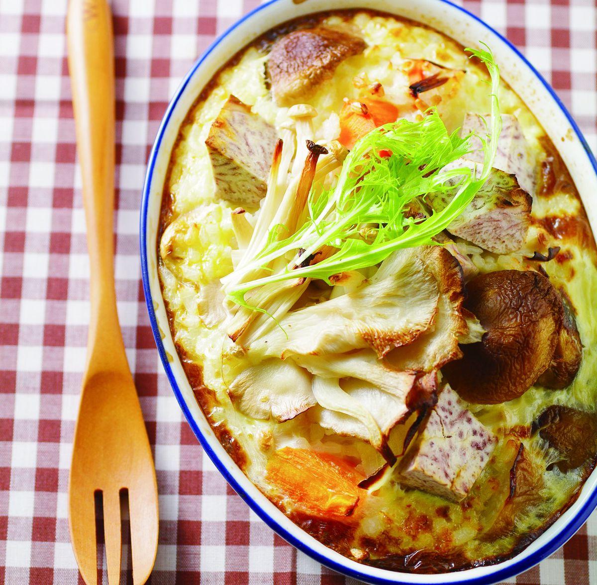 食譜:香芋野菇焗飯