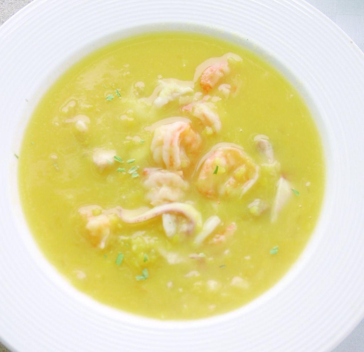 食譜:地瓜海鮮湯