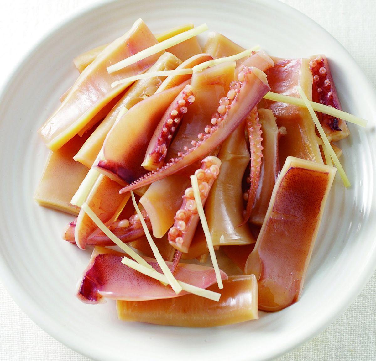 食譜:薑汁魷魚(2)