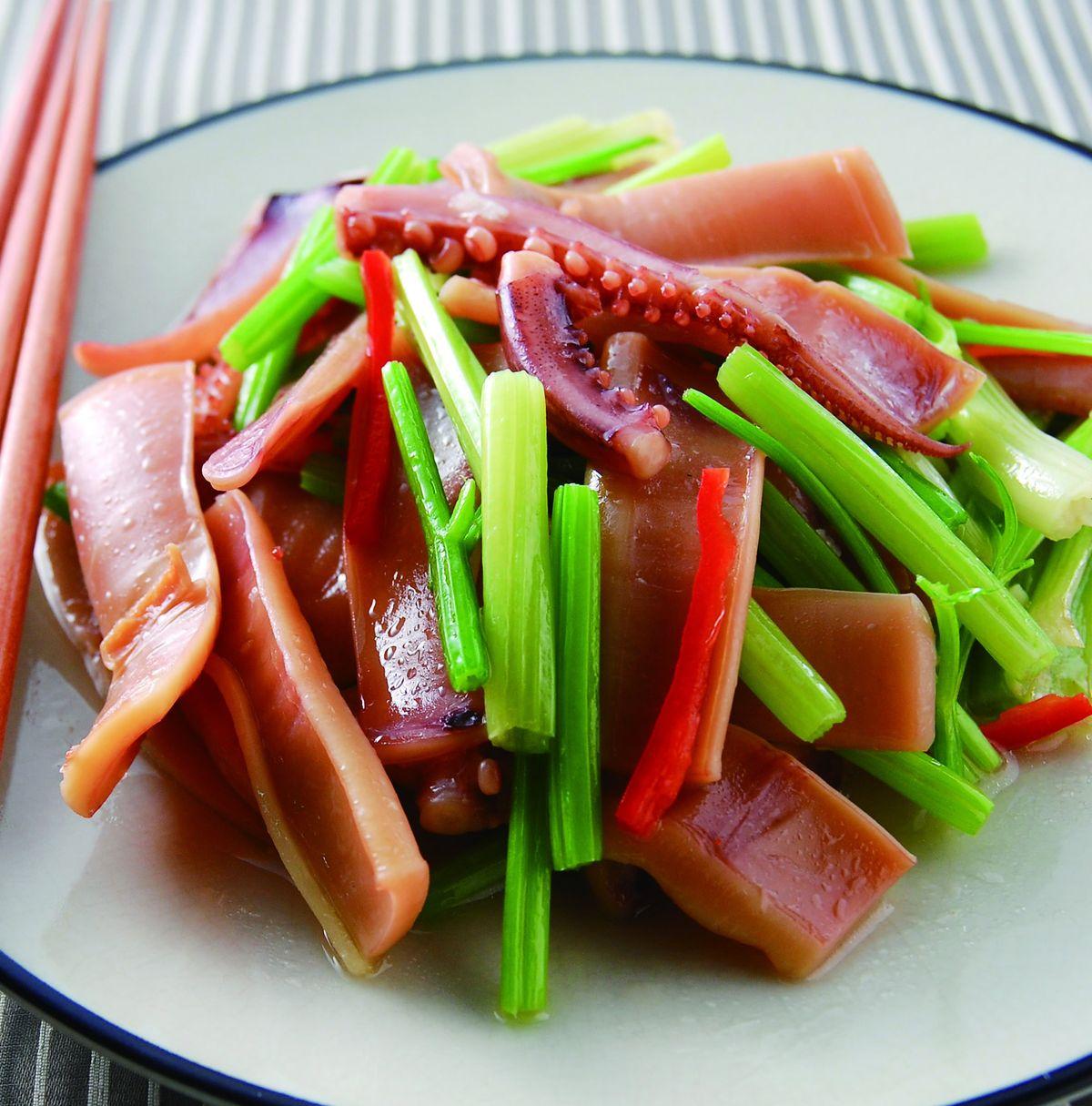 食譜:芹菜炒魷魚(6)