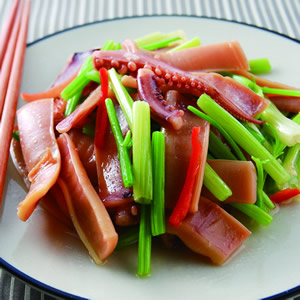 芹菜炒魷魚(6)
