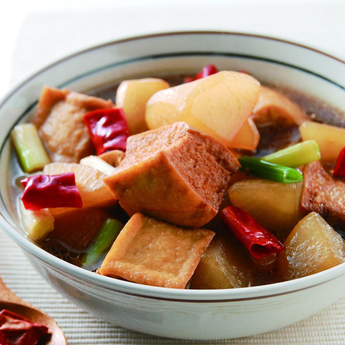 食譜:蘿蔔滷油豆腐